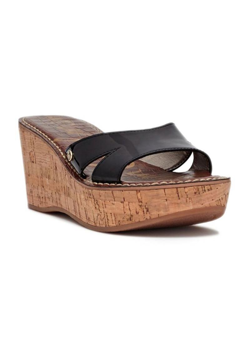 898d8b8faa3b Sam Edelman Sam Edelman Reid Patent Leather Wedge Sandals