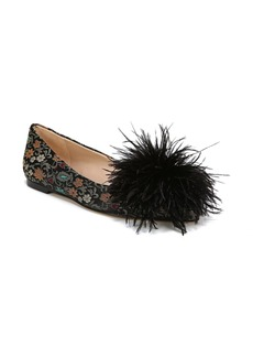 Sam Edelman Reina Feather Pompom Flat (Women)
