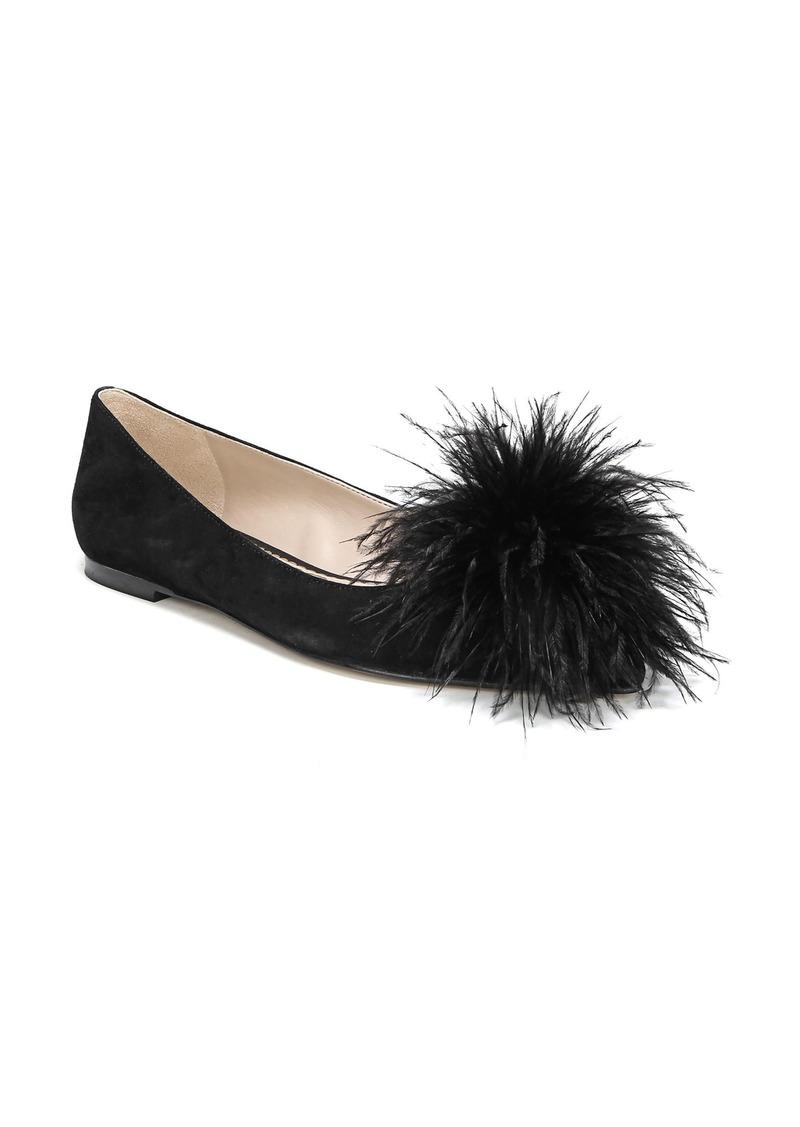 Sam Edelman Reina Feather Pompom Flat (Women)