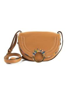 Sam Edelman Rio Half Moon Leather Saddle Bag