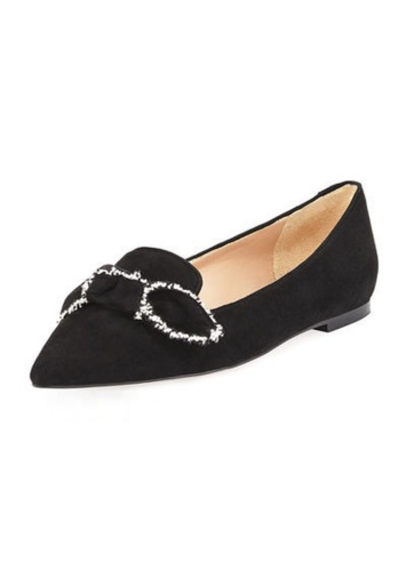22b075536 Sam Edelman Sam Edelman Rochester Pointed-Toe Loafer Flat with Bow ...