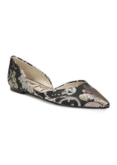 Sam Edelman Rodney Tapestry d'Orsay Pointed Toe Flats