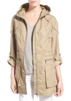 Sam Edelman Roll Sleeve Cotton Twill Utility Jacket
