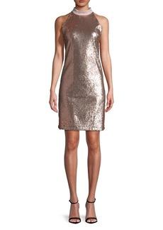 Sam Edelman Rose Goldtone Sequin Dress