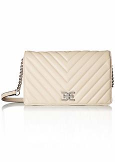 Sam Edelman Rose Quilted Flap Shoulder Bag modern ivory