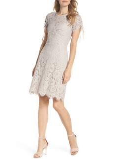 Sam Edelman Ruched Lace Sheath Dress