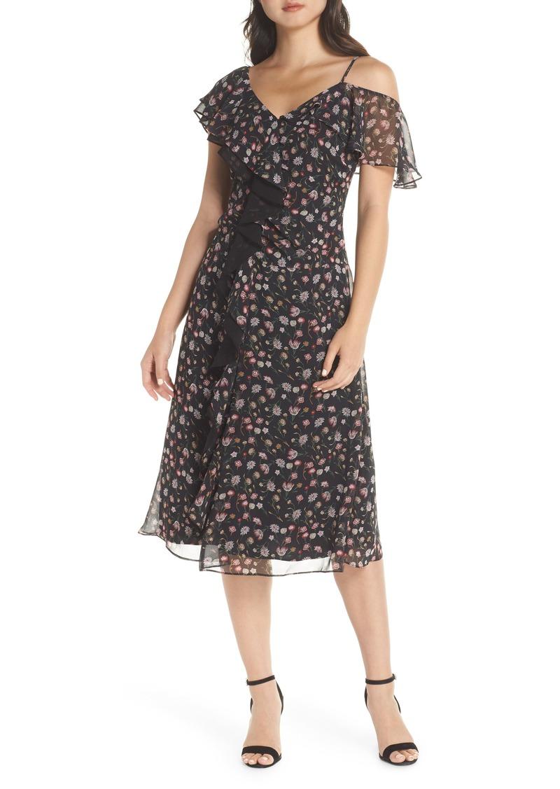 Sam Edelman Ruffle Front Midi Dress