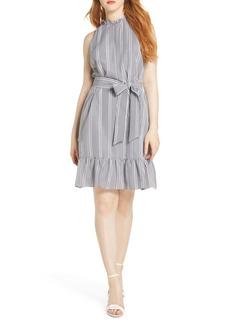 Sam Edelman Ruffle Gingham A-Line Dress
