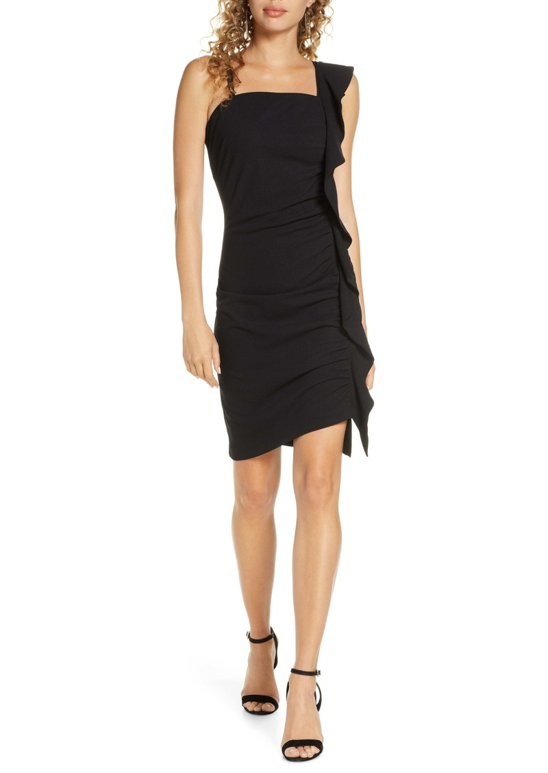Sam Edelman Ruffle Shoulder Cocktail Dress