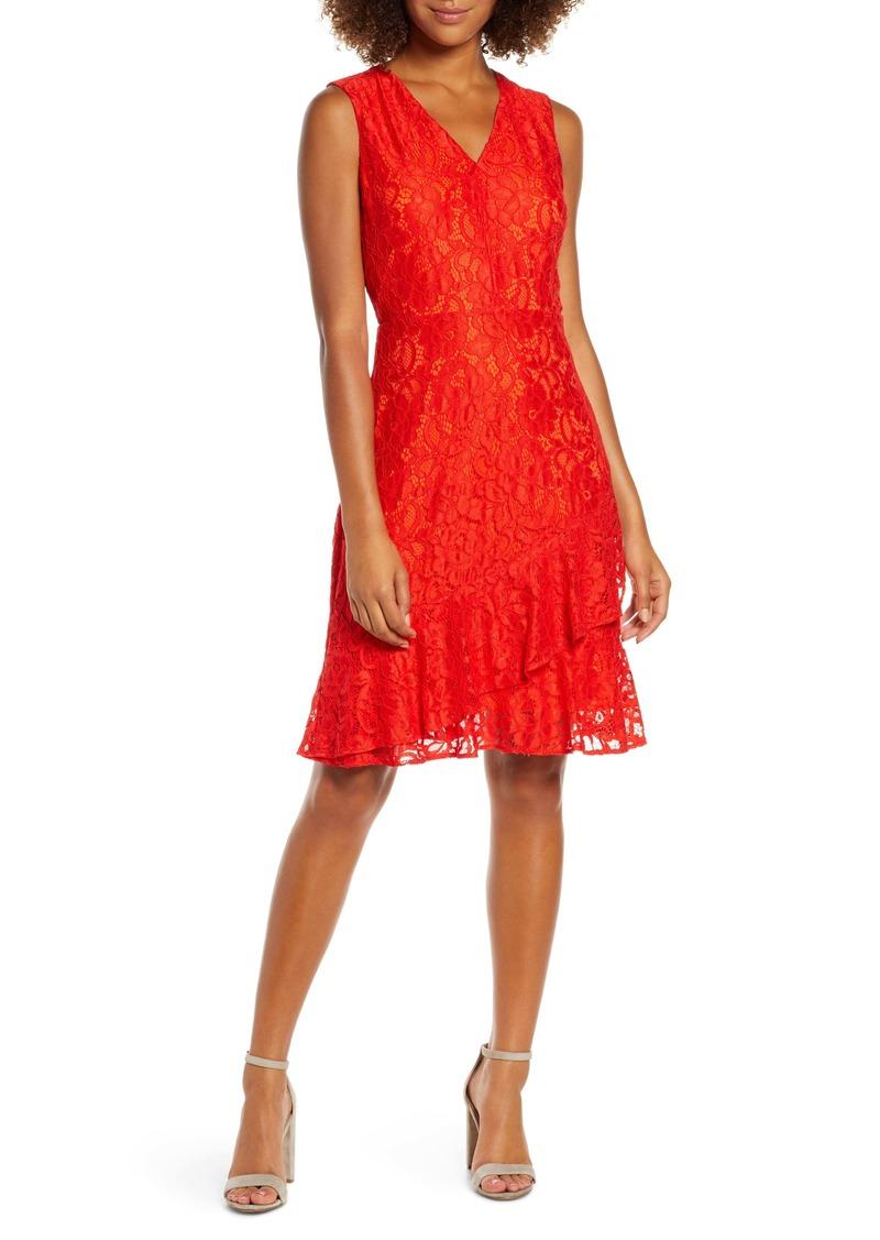 Sam Edelman Ruffle Tiered Lace Dress