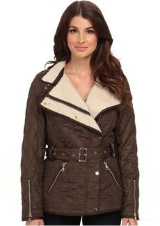 Sam Edelman Rylie Quilted Jacket w/ Sherpa Inner