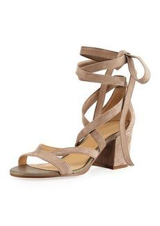 Sam Edelman Sheri Suede Ankle-Wrap Sandal