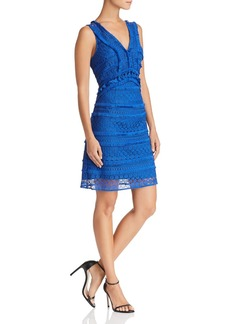 Sam Edelman Sleeveless Tassel-Trim Lace Dress