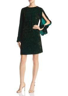 Sam Edelman Slit-Sleeve Crushed-Velvet Dress