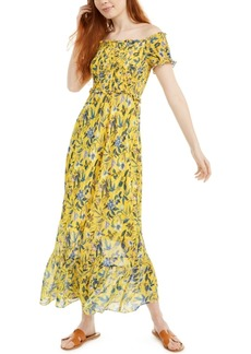 Sam Edelman Smocked Floral-Print Midi Dress