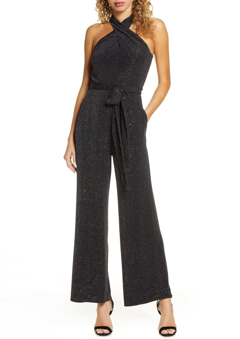 Sam Edelman Sparkle Halter Neck Jumpsuit