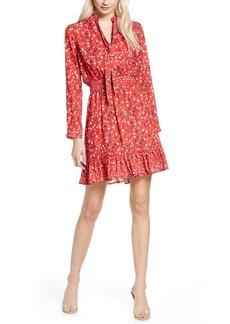 Sam Edelman Speckle English Rose Long Sleeve Fit & Flare Dress