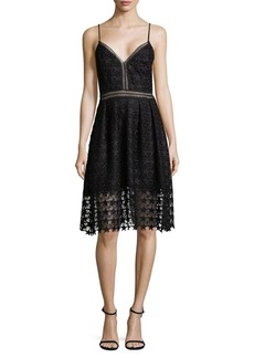 Sam Edelman Star Lace Fit-&-Flare Dress