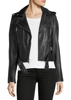 Sam Edelman Starburst Nail Head Leather Jacket