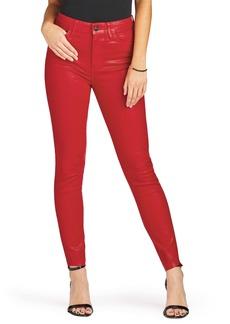 Sam Edelman Stiletto Ankle Jeans (Red Polish)