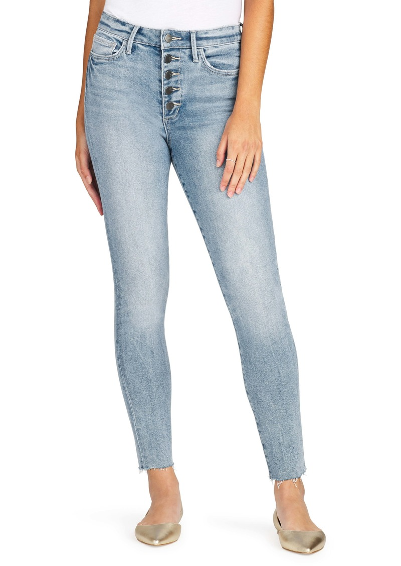 Sam Edelman Stiletto Cut Hem High Waist Ankle Skinny Jeans (Jessie)