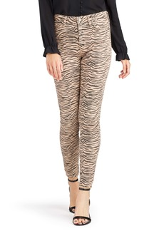 Sam Edelman Stiletto Zebra Print Raw Hem Ankle Skinny Jeans (Golden Zebra)