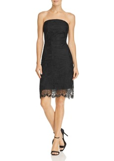 Sam Edelman Strapless Pineapple Lace Dress
