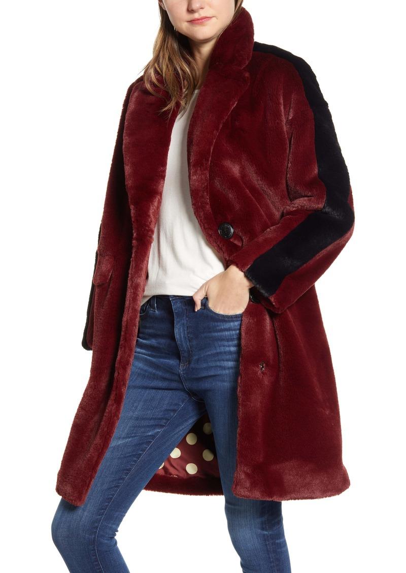 Sam Edelman Stripe Faux Fur Jacket