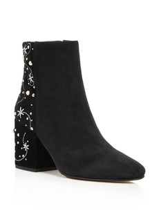 Sam Edelman Taft Embroidered Pearl Stud Booties - 100% Exclusive