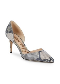 Sam Edelman Telsa Snake Embossed Leather d'Orsay Pumps