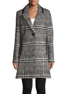 Sam Edelman Textured Glen Plaid Walker Coat