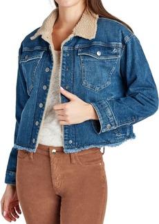 Sam Edelman The Bella Faux-Fur Lined Denim Jacket