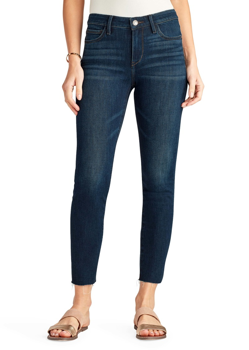 Sam Edelman The Kitten High Waist Raw Hem Ankle Skinny Jeans (Manuka)
