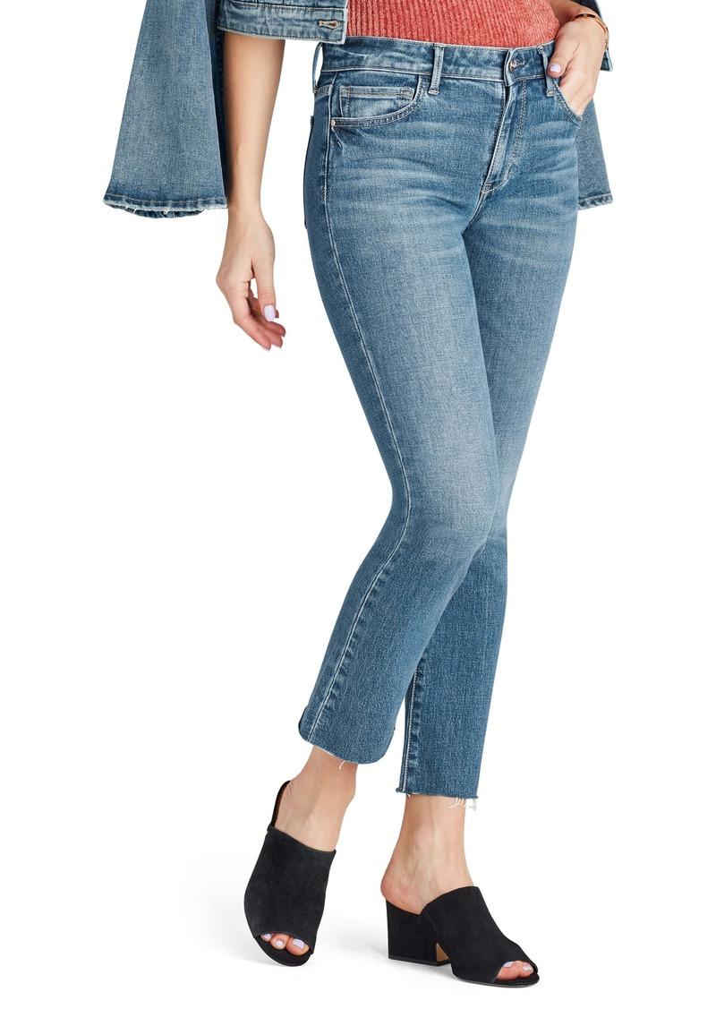 Sam Edelman The Kitten Raw Hem Straight Leg Jeans (Tori)
