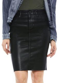 Sam Edelman The Riley Coated Pencil Skirt