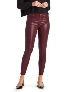 Sam Edelman The Stiletto Coated High Waist Raw Hem Ankle Skinny Jeans