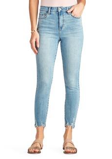 Sam Edelman The Stiletto High Waist Chewed Hem Ankle Skinny Jeans (Clematis)