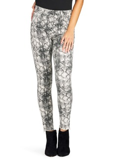 Sam Edelman The Stiletto High Waist Raw Ankle Skinny Jeans (Pacific Snake)