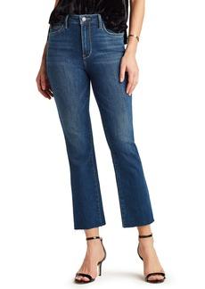 Sam Edelman The Stiletto High Waist Raw Hem Crop Bootcut Jeans (Ash)