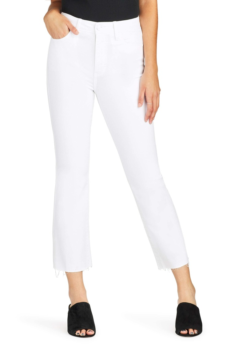 Sam Edelman The Stiletto High Waist Raw Hem Crop Bootcut Jeans (Ornella)