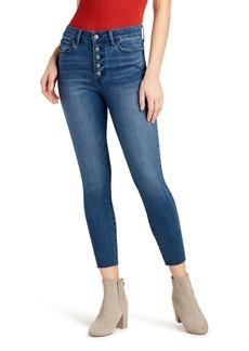 Sam Edelman The Stiletto High Waist Raw Hem Crop Skinny Jeans (Kauai)
