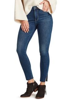 Sam Edelman The Stiletto High Waist Raw Hem Skinny Jeans (Ash)