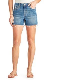 Sam Edelman The Stiletto Raw Hem Cutoff Denim Shorts (Kalina)