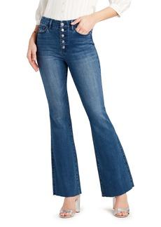 Sam Edelman The Stiletto Raw Hem Flare Jeans (Kauai)