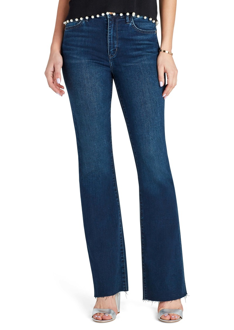 Sam Edelman The Stiletto Raw Hem High Waist Bootcut Jeans (Agatha)
