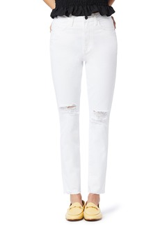 Sam Edelman The Stiletto Ripped High Waist Ankle Straight Leg Jeans (Ithaca)