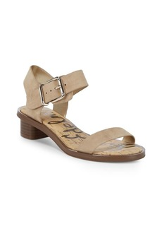 Sam Edelman Trina Heeled Leather Open Toe Sandals