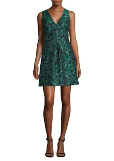 Sam Edelman Tropical-Print Fit-&-Flare Dress