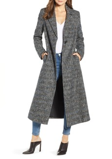 Sam Edelman Tweed Reefer Maxi Coat