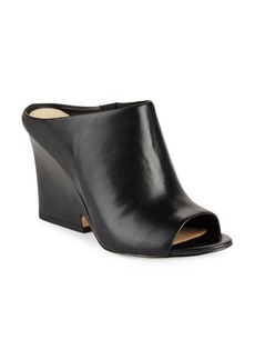 Sam Edelman Wayne Peep-Toe Leather Mules